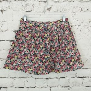 Forever 21 Floral Button Mini Skirt M